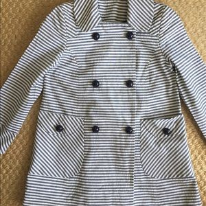Topshop Jackets & Coats - Topshop Nautical Striped Peacoat Blazer size 2 XS
